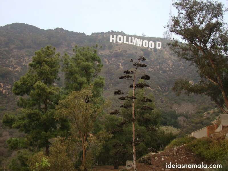 Placa de Hollywood em Los Angeles