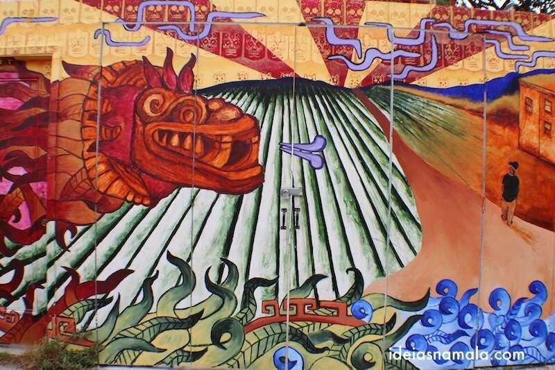 Mural em Balmy Alley - São Francisco