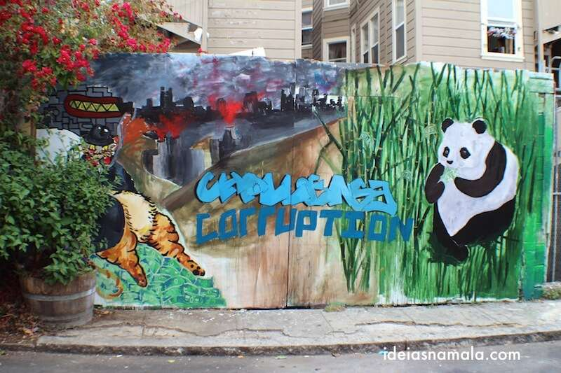 "Mural ""protesto"" em Balmy Alley - Mission"