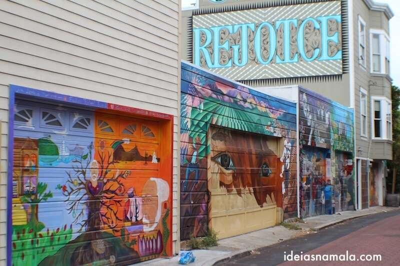 Grafites no Balmy Alley - San Francisco