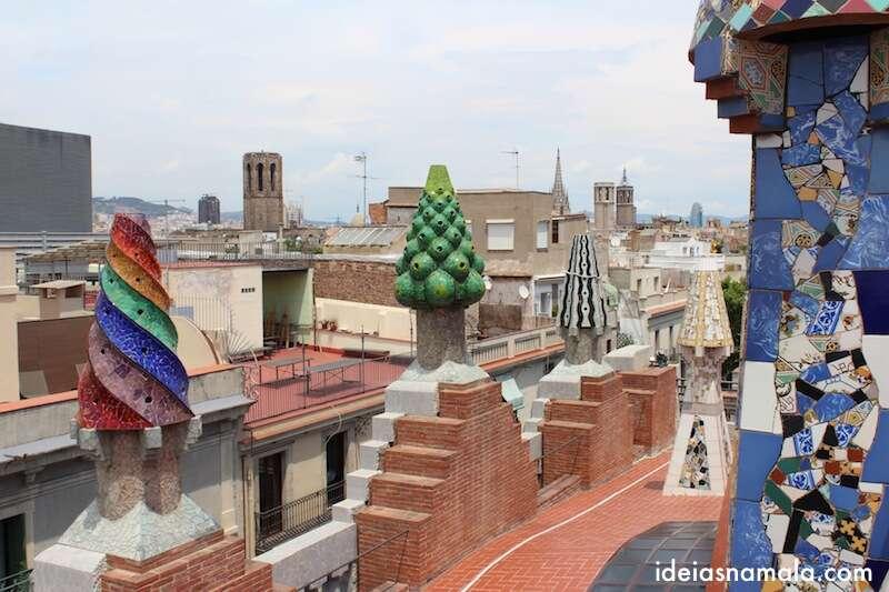Terraço do Palau Güell - Barcelona