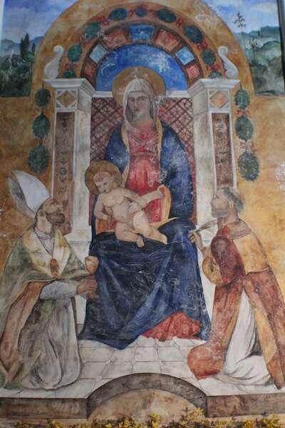 Pintura da igreja - Castelo di Amorosa