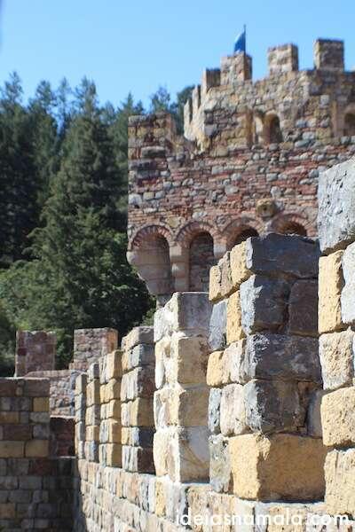 Muro do Castelo di Amorosa