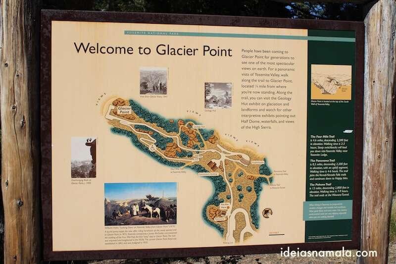 Mapa do Glacier Point | Yosemite National Park, California