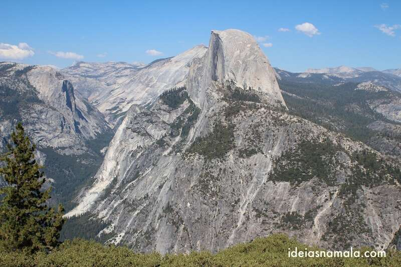 Half Dome visto do alto do Glacier Point