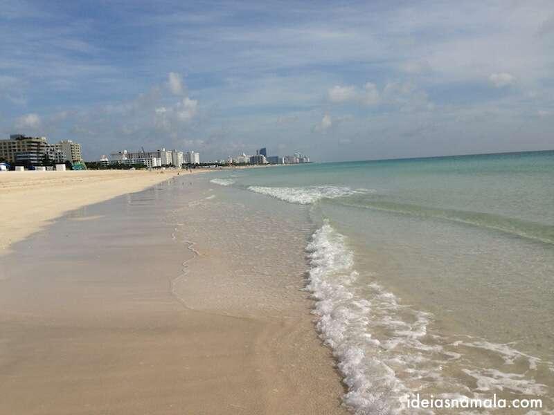 Praia em south beach - Miami