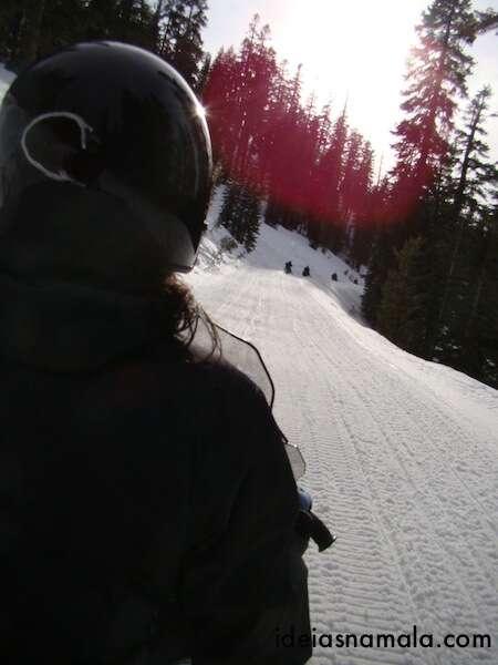 Passeio de Snow Mobile - Lago Tahoe