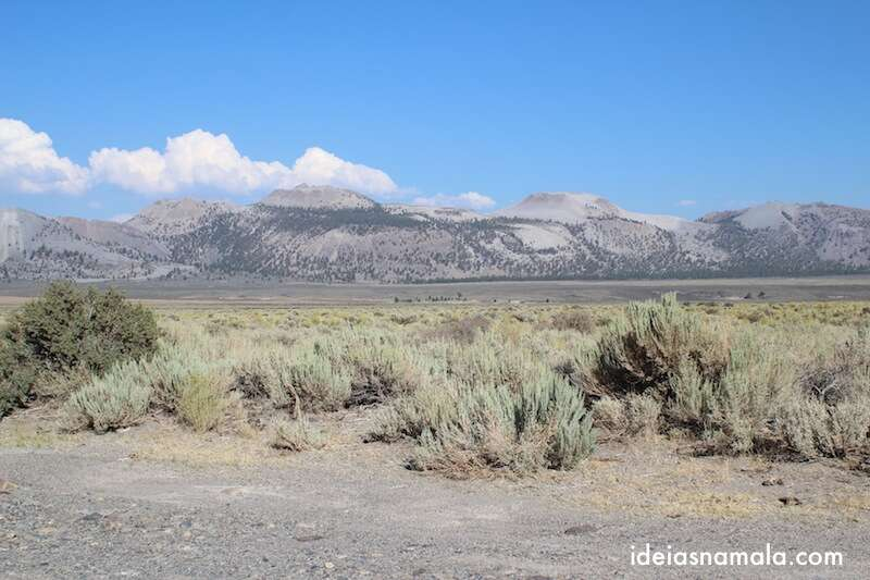 Montanhas na Mammoth Lakes Scenic Route