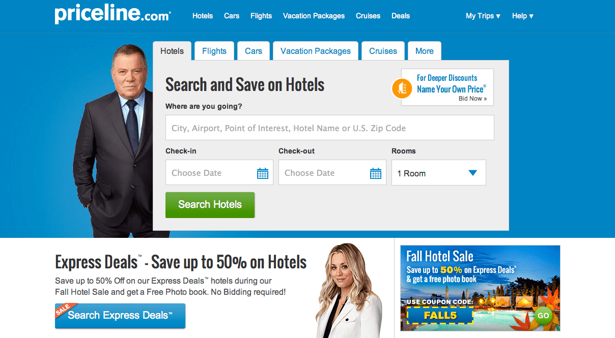 Screen Shot Priceline