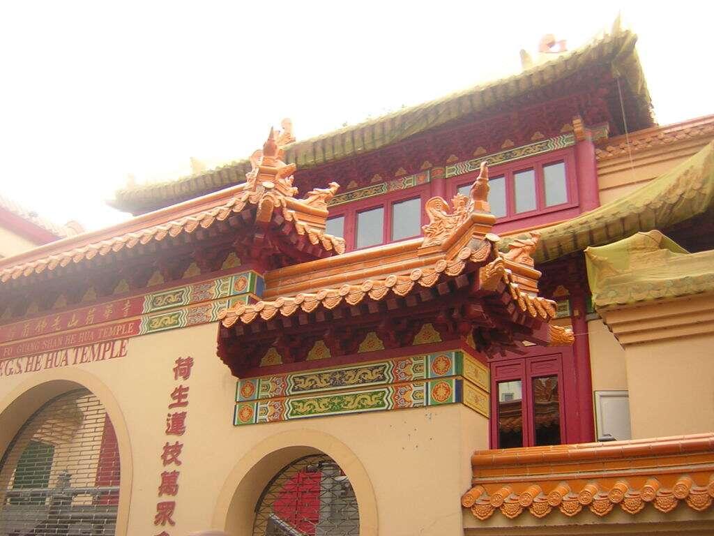 Templo chinês no bairro da luz vermelha