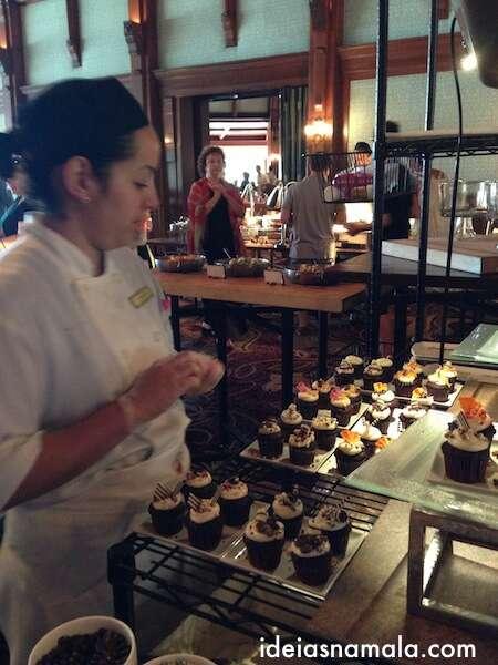 Cupcakes - brunch de domingo no Hotel del Coronado