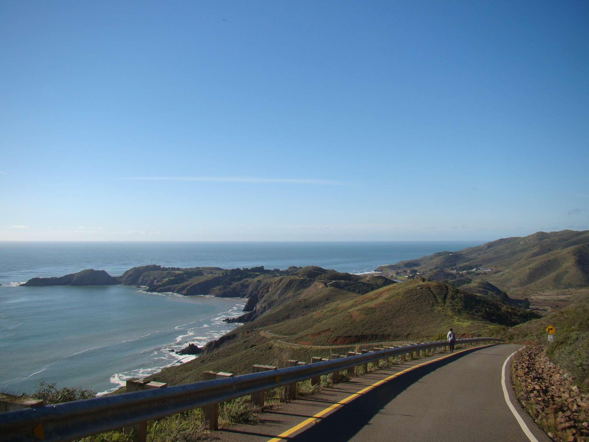 Descendo a estrada - Marin Headlands