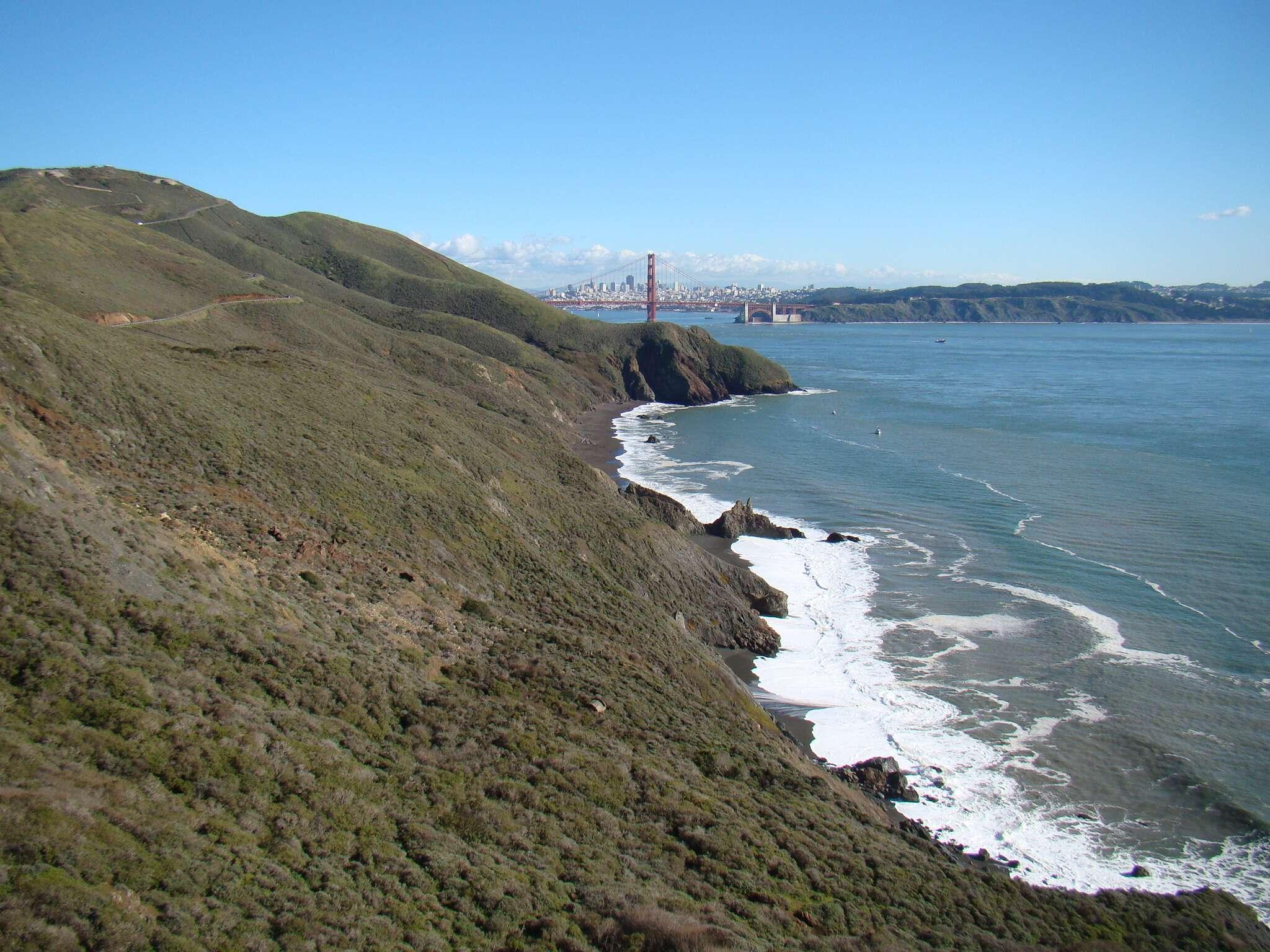 Vista do Marin Headlands: Golden Gate + Praias