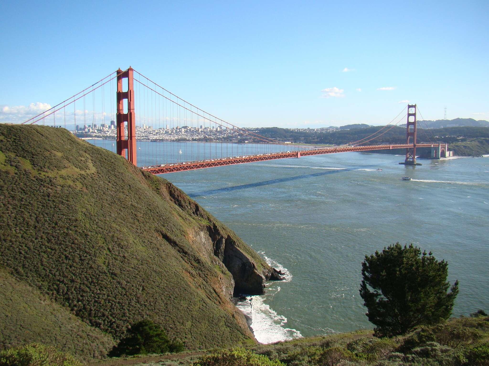 Vista do Marin Headlands: Golden Gate + Praias e montanhas