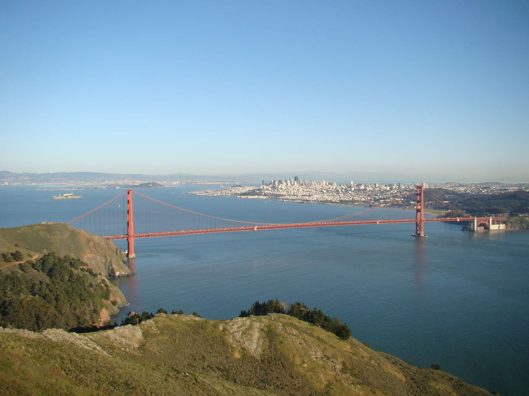 Golden Gate vista do alto do Marin Headlands