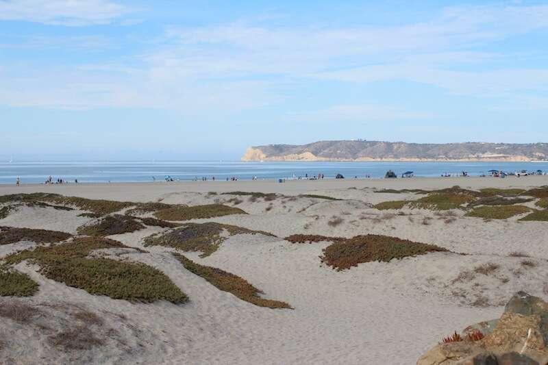 Praia na ilha do Coronado - na nossa opinião, a melhor da cidade
