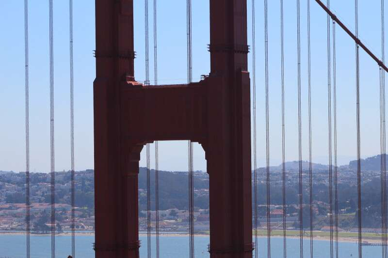 vista mais bonita da Golden Gate Bridge