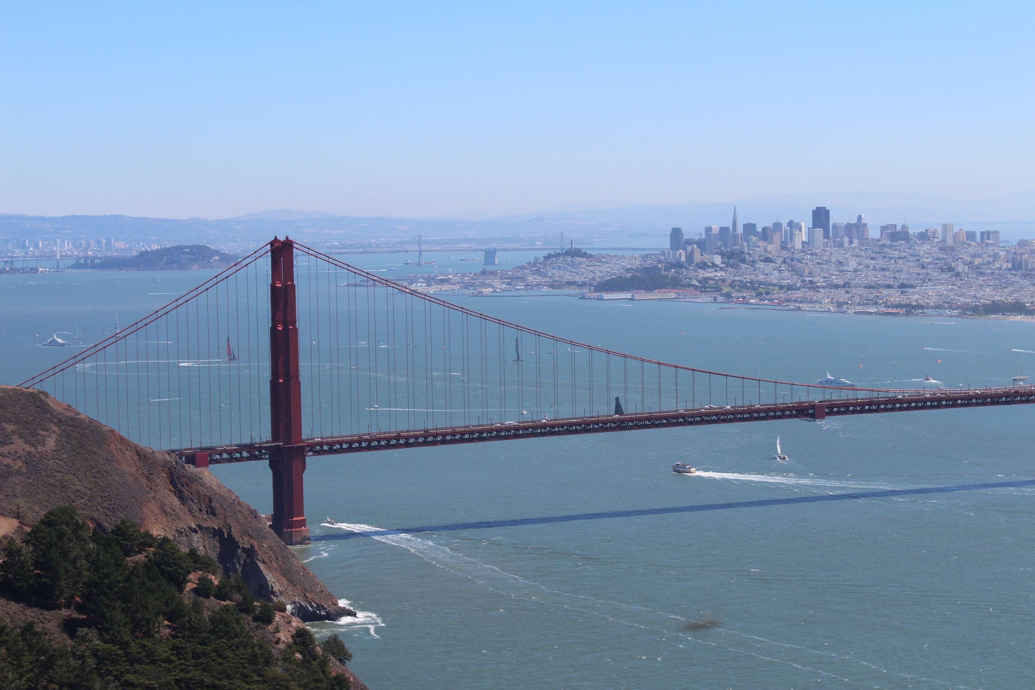 Terceiro mirante da Golden Gate - Hawk Hill