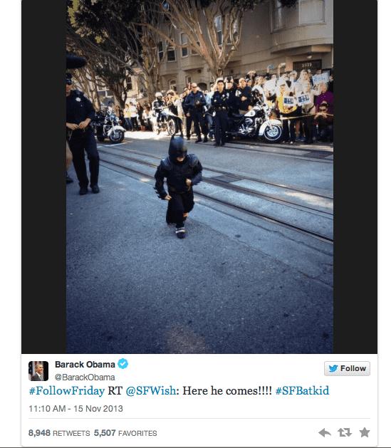 Tweet de Obama #Batkid