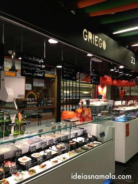Comida grega no Mercado San Antón