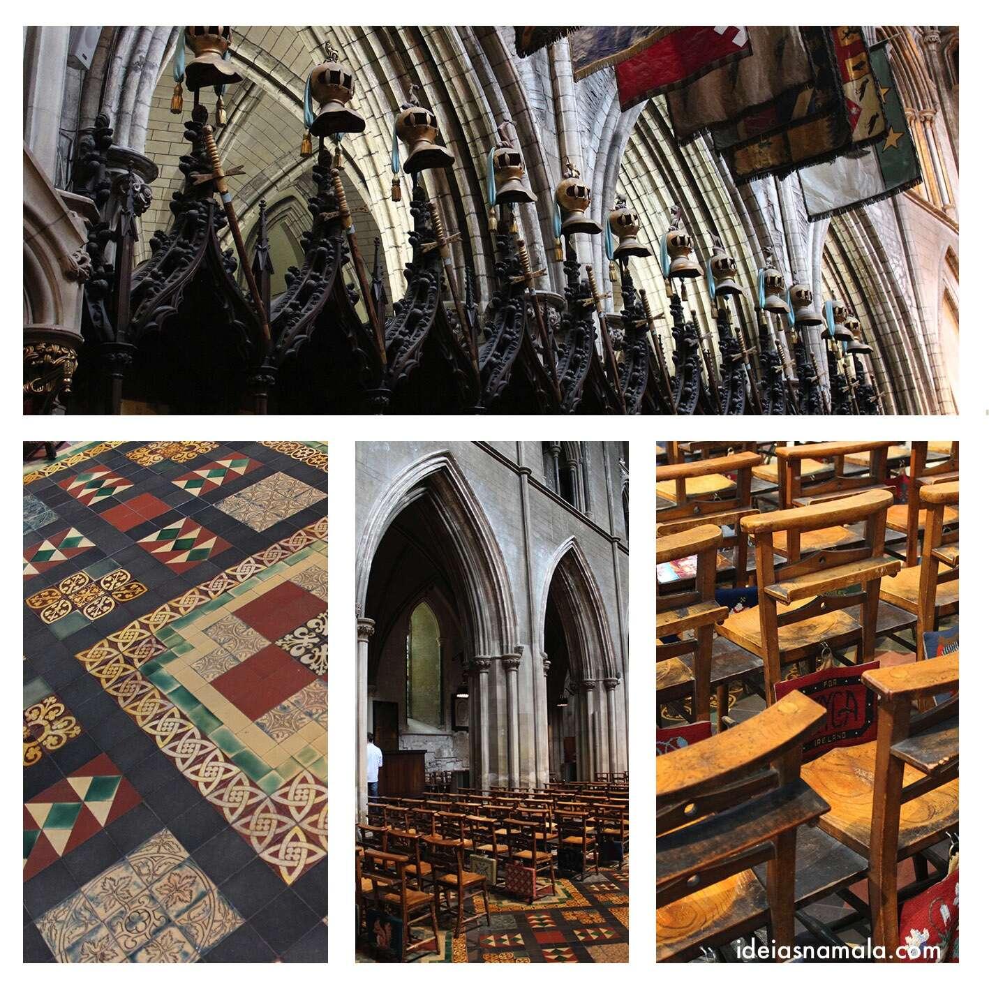 Interior da Catedral de St. Patrick em Dublin