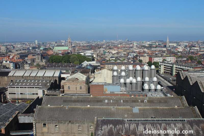 Dublin vista do alto da Guinness Storehouse
