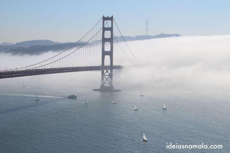Golden Gate bridge em dia nublado
