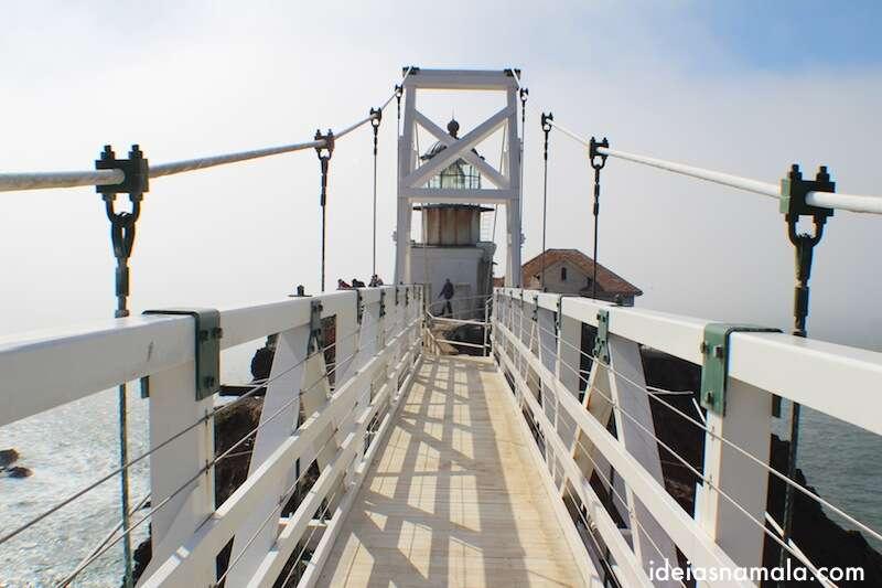 Última ponte - Bonita Lighthouse - Califórnia