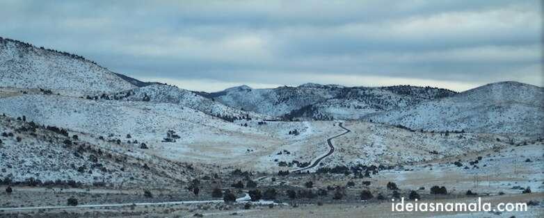 Paisagem de inverno na Hwy 395