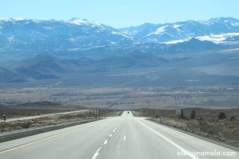 Montanhas do Kings Canyon na região de Bishop