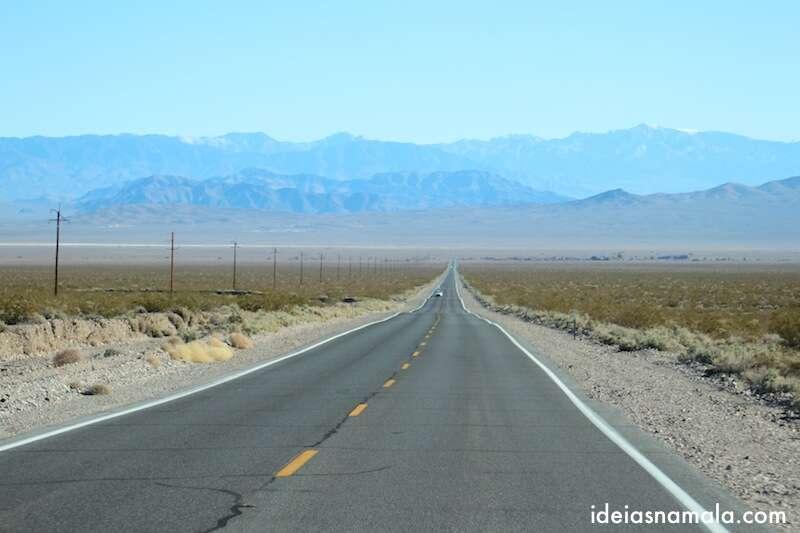 Despedida do Death Valley - um retão sem fim