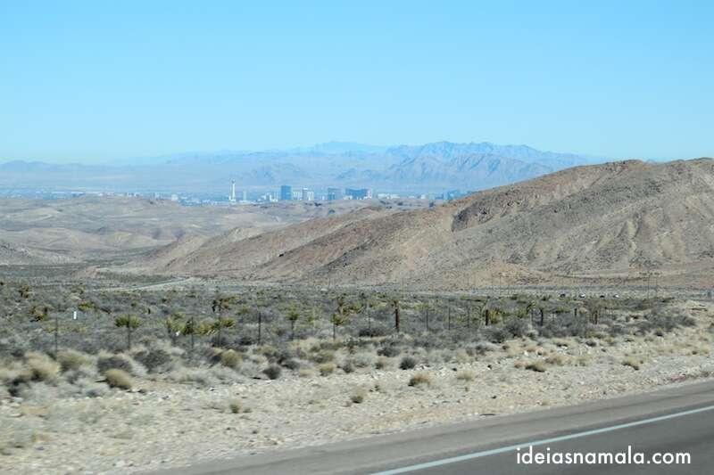 Las Vegas vista do deserto