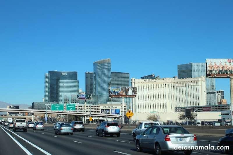 Las Vegas vista da estrada
