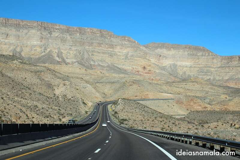 Estrada para o Zion National Park