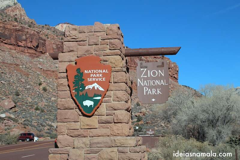 Entrada do Zion National Park
