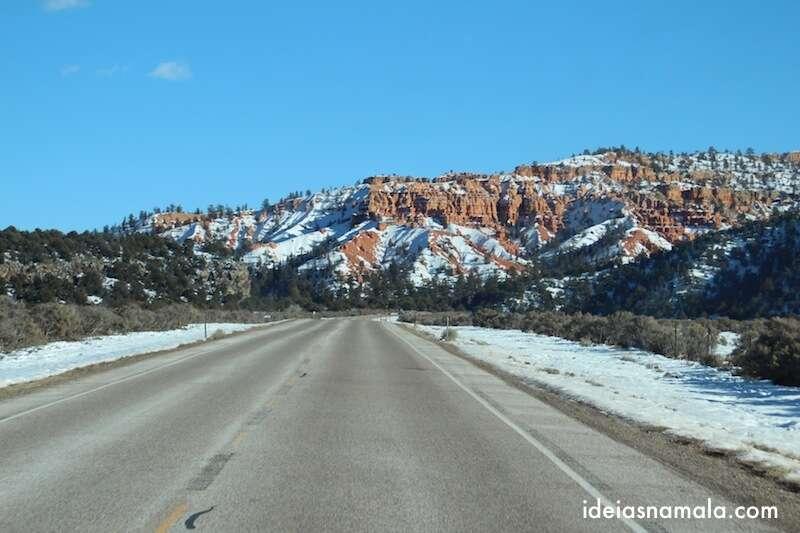 A viagem entre Zion e Bryce