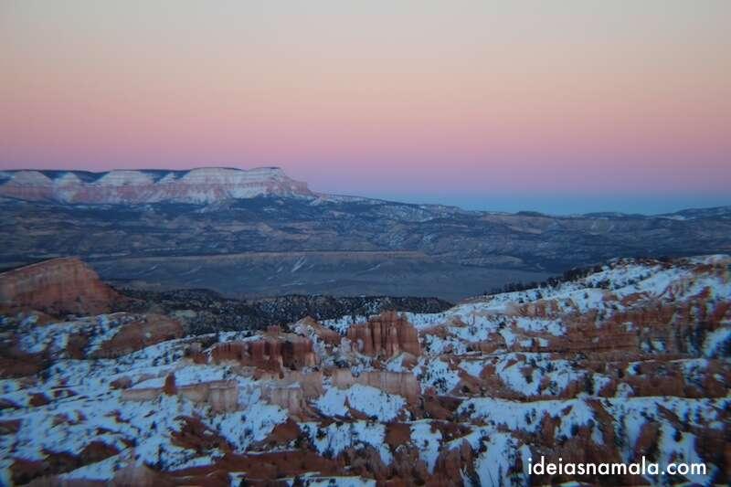 E as cores no céu do Bryce