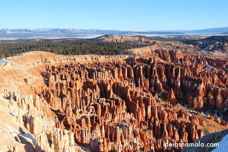 Vista do mirante mais alto do Inspiration Point, Bryce