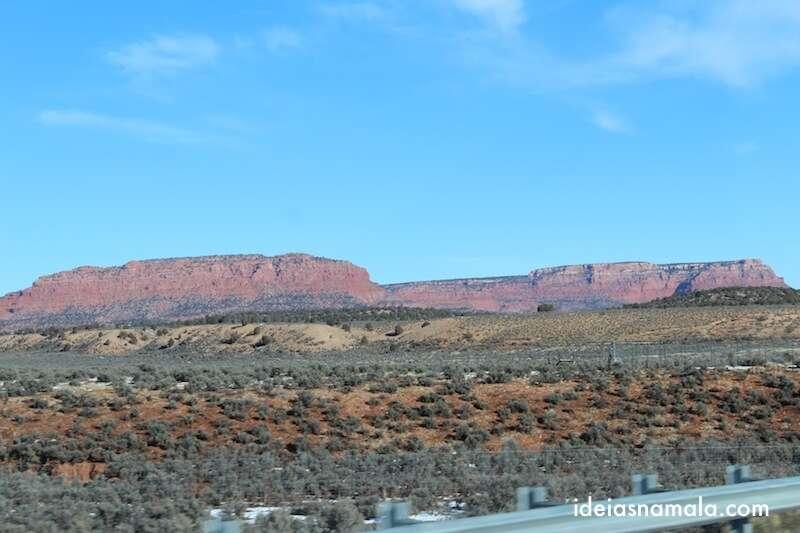 Montanhas vermelhas em Kanab