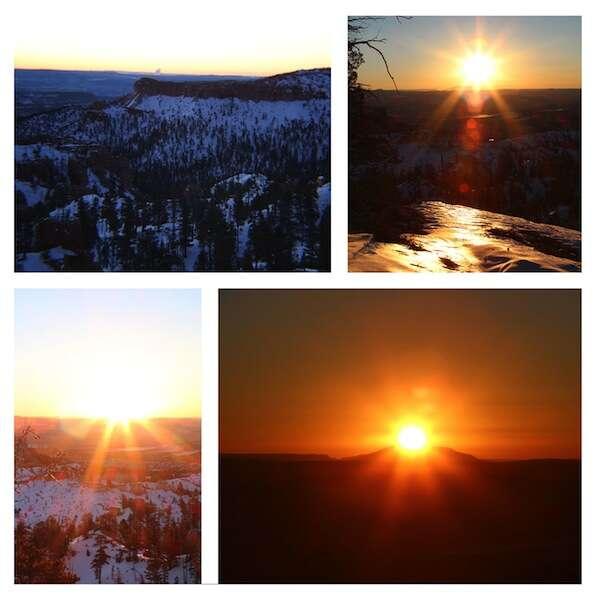 Nascer do sol no Bryce
