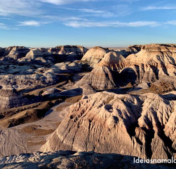 Petrified Forest National Park no Arizona: árvores petrificadas e o deserto colorido
