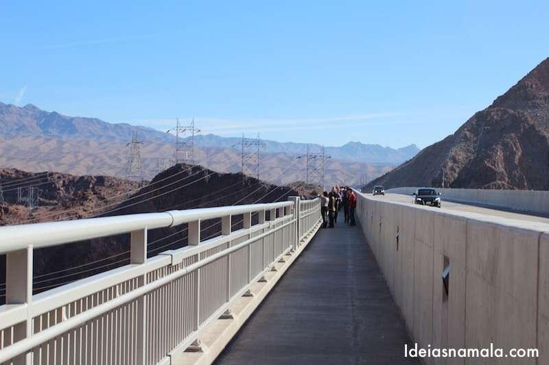A ponte, melhor forma de ver a barragem do Hoover Dam