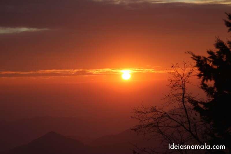 Por do sol no Sequoias National Park
