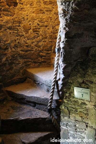 Interior do castelo de Blarney