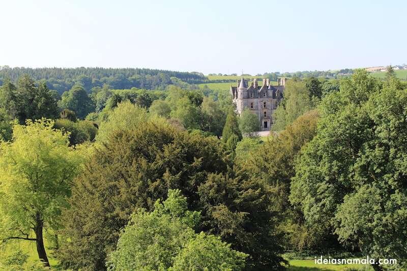 Vista do alto do Castelo de Blarney