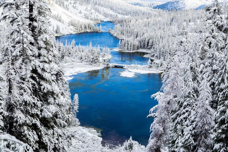 Neve em Mammoth Lakes