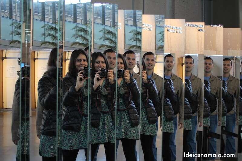 Espelhos no Exploratorium