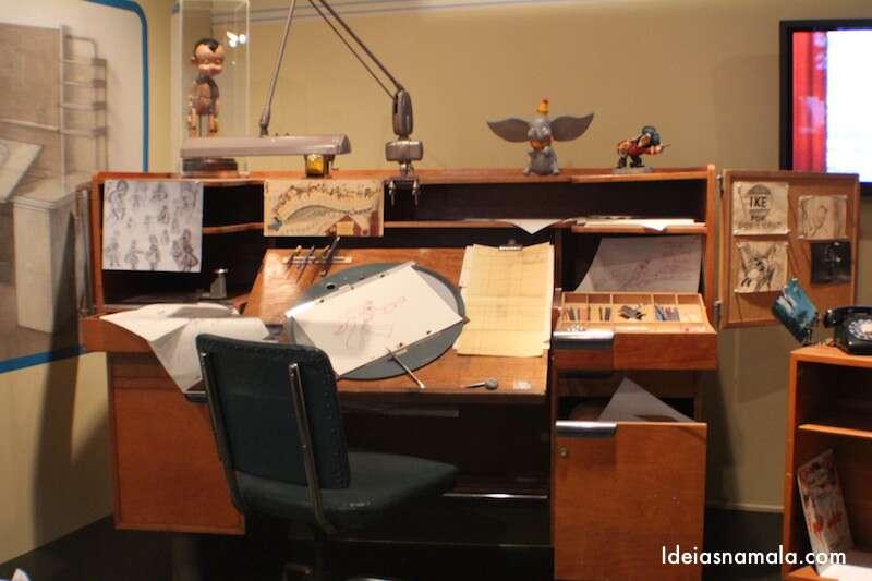 Mesa de trabalho de Walt Disney