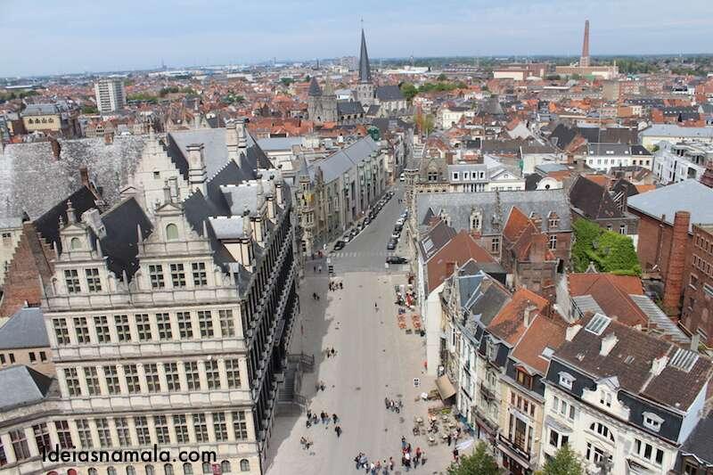 Vista do Belfry de Ghent