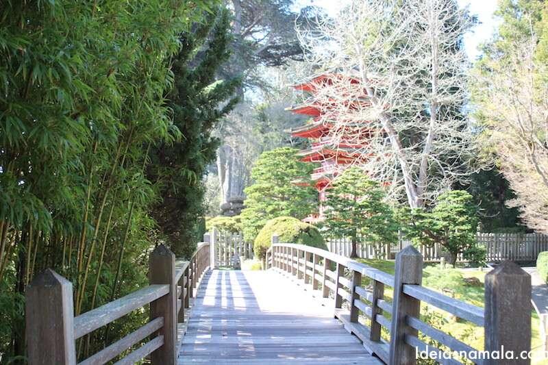 Ponte no Jardim Japonês de São Francisco